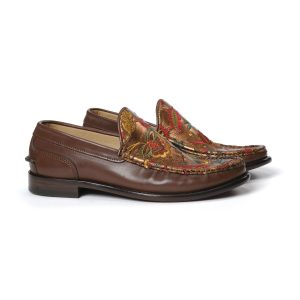 RINO SMOOTH EMBROIDERED LOAFERS